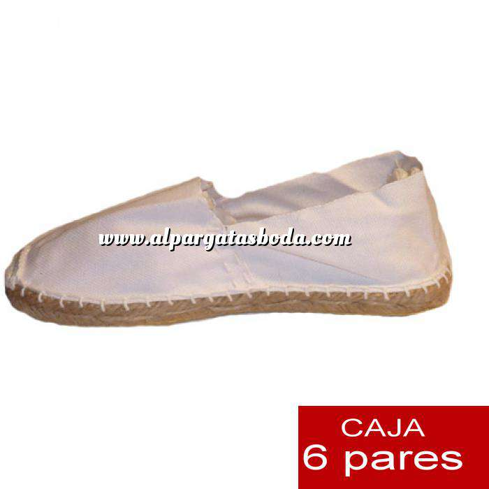 Imagen Talla 37 Alpargatas cerradas Talla 37 blanco- 6 pares - Entrega 15 días