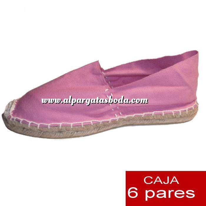 Imagen Talla 40 Alpargatas cerradas Talla 40 rosa- 6 pares - Entrega 15 días