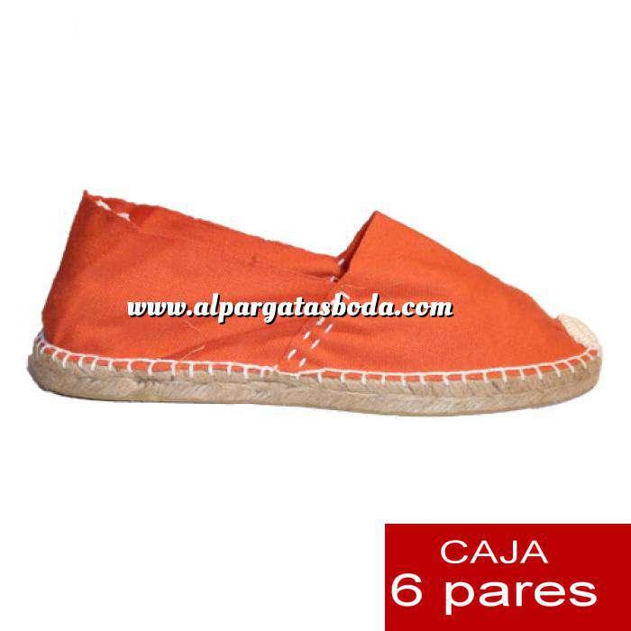 Imagen Talla 41 Alpargatas cerradas Talla 41 naranja- 6 pares - Entrega 15 días