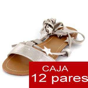 Alta Calidad - Sandalias Embassy PLATEADAS - Caja de 12 pares (Ref.: Silver 6B-14) (Últimas Unidades)
