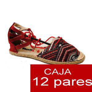 Alta Calidad - Sandalias Étnicas ROJO - Caja de 12 pares (Últimas Unidades)