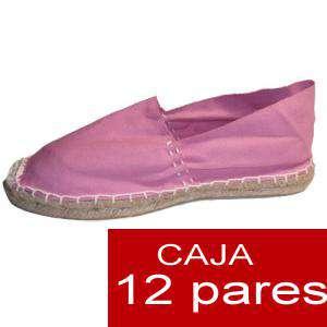 Mujer Cerradas - Alpargatas cerradas MUJER color rosa - caja 12 pares (Últimas Unidades)