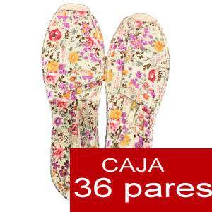 Mujer Estampadas - Alpargata estampada FLORES Caja 36 pares (Últimas Unidades)