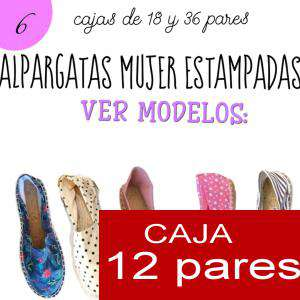 Imagen Mujer Estampadas Alpargatas estampadas RAYAS ETNICAS 4 Caja 12 pares - OFERTA ULTIMAS CAJAS (Últimas Unidades)