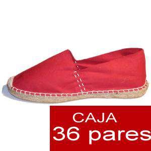 Para Hombres - Alpargatas cerradas HOMBRE color Rojo caja 36 pares (Últimas unidades)