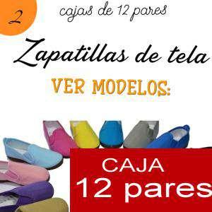 Imagen Zapatillas de Tela (Kung fu) Manoletinas Zapatillas de TELA NARANJA Lote de 12 pares (Últimas Unidades)