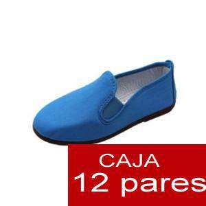 Paresúltimas Manoletinas De Lote Boda Zapatillas 12 Unidades Alpargatas Tela Azul Para H9I2ED