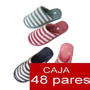 Zapatillas de Tela (Kung fu) - Zaptillas de casa Pantuflas de rayas Cajas de 48 pares (Últimas Unidades)