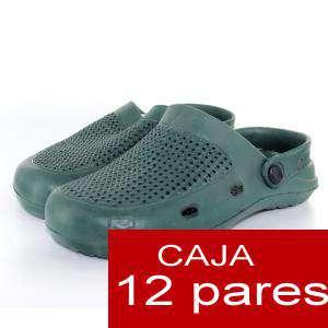Zuecos tipo Crocs - Zuecos tipo Crocs HOMBRE - Verde Kaki - CAJA DE 12 UDS (Últimas Unidades)