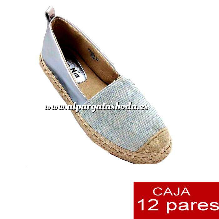 Imagen Alta Calidad Alpargata bicolor rayas finas - Caja de 12 pares (Últimas Unidades)