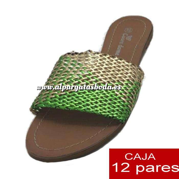 Imagen Alta Calidad Sandalias planas Bicolor Trenzadas - Caja de 12 pares (Últimas Unidades)
