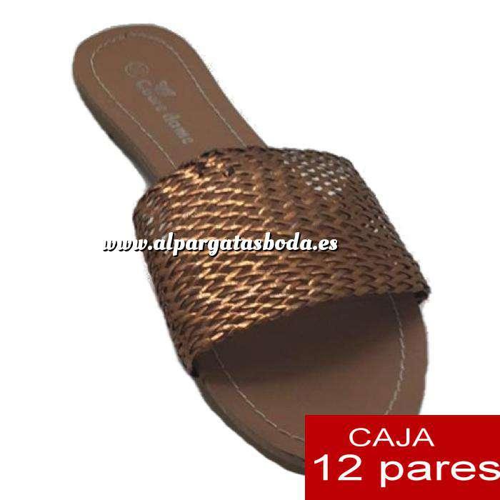 Imagen Alta Calidad Sandalias planas Doradas Trenzadas - Caja de 12 pares (Últimas Unidades)