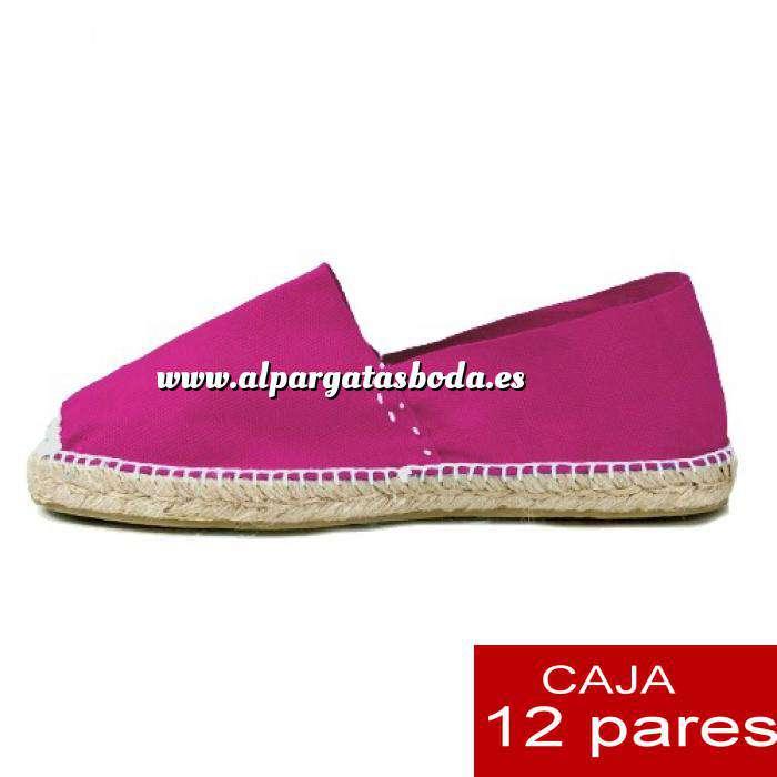 Imagen Mujer Cerradas Alpargatas cerradas MUJER color FUCSIA - caja 12 pares