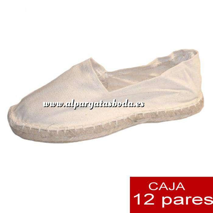 Imagen Mujer Cerradas Alpargatas cerradas MUJER color beige / Crudo - caja 12 pares