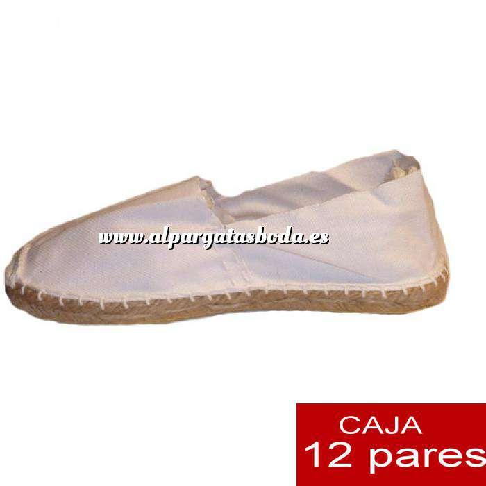Imagen Para Hombres Alpargatas cerradas HOMBRE color blanco Tallaje 41-46 caja 12 pares