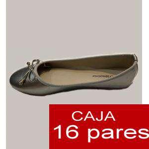Alta Calidad - Manoletinas PLATEADAS primavera - Caja 16 pares (Últimas Unidades)