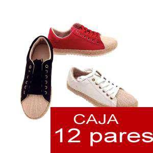 Alta Calidad - Zapatillas Mixtas tipo bambas suela de esparto - Caja de 12 pares (Últimas Unidades)
