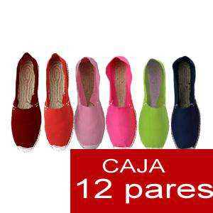 Mujer Cerradas - Alpargatas cerradas Boda Surtidas en colores y tallas - caja de 12 pares (duplicado)