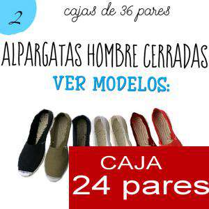 Imagen Para Hombres Alpargatas cerradas HOMBRE color ROJO Tallaje 40-46 -caja 24 pares (TIENDA)