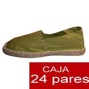 Para Hombres - Alpargatas cerradas HOMBRE color kaki Tallaje 40-46 -caja 24 pares (TIENDA)