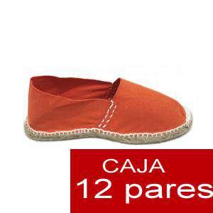 Para Niño - Alpargatas Niño colorNARANJA LOTE de 12 uds (tallas 28-34)