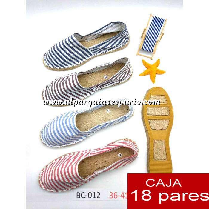 Imagen Mujer Estampadas Alpargatas estampadas RAYAS HERMOSAS Caja 18 pares - AGOTADO HASTA 15 DE MARZO
