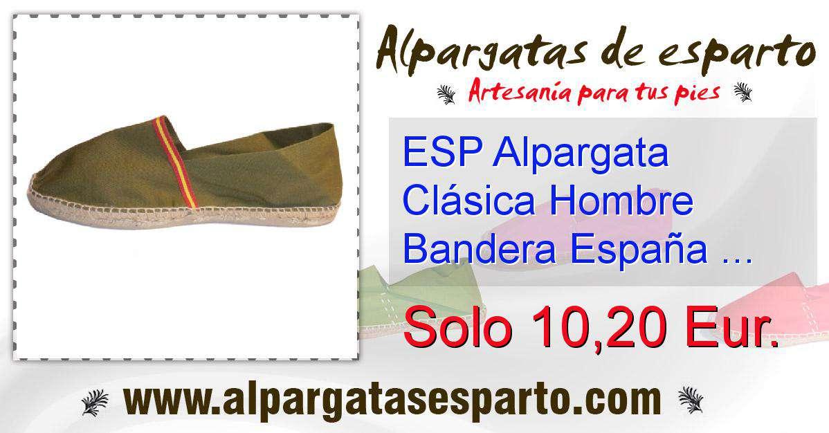 959b4d00d07 ESP Alpargata Clásica Hombre Bandera España Kaki Talla 41