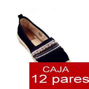 Alta Calidad - Alpargata franja diseño étnico - Caja de 12 pares (Últimas Unidades)