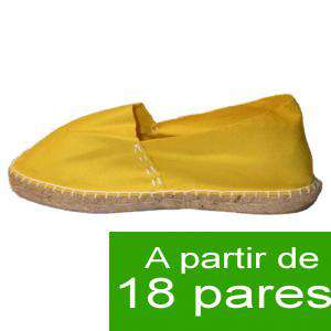 Mujer Cerradas - Alpargatas cerradas MUJER color Amarillo - A partir de 18 pares (Últimas Unidades)