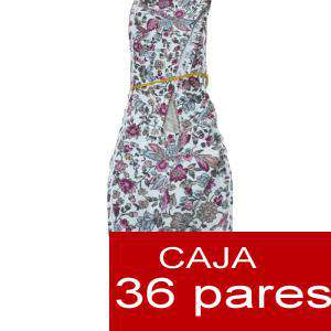 Mujer Estampadas - Alpargatas estampadas Flores GRANATE Caja 36 pares (Ref.Rosa flores) (Últimas Unidades)