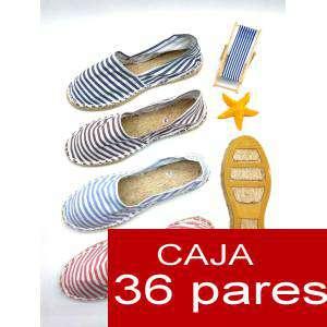 Mujer Estampadas - Alpargatas estampadas RAYAS HERMOSAS Caja 36 pares - AGOTADO HASTA 15 DE MARZO