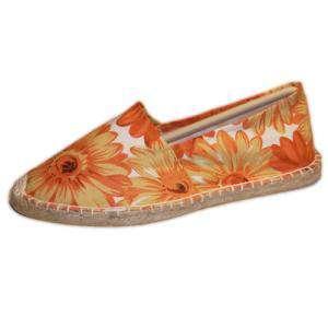 Naranja - ESTM - Estampada Mujer Girasoles Naranja Talla 36