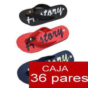 Sandalias y Chanclas - Chanclas History hombre Colores Surtidos - Caja de 36 pares