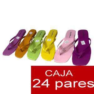 Sandalias y Chanclas - Sandalias polipiel lisas - Caja de 24 pares (Últimas Unidades)