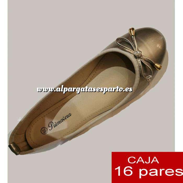 Imagen Alta Calidad Manoletinas DORADAS primavera - Caja 16 pares (Últimas Unidades)