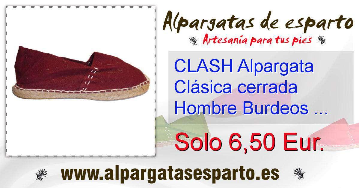 Talla Cerrada 42 Clash Clásica Alpargata Burdeos Hombre N8PZwOkn0X
