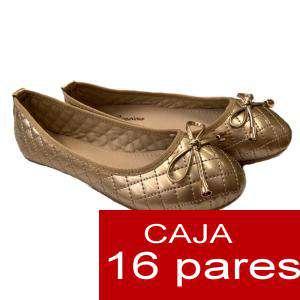 Alta Calidad - Manoletinas ACOLCHADAS color DORADO - Caja 16 pares (Últimas Unidades)