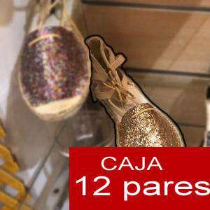 Alta Calidad - Sandalias Fiesta Glitter DORADO - Caja de 12 pares (Ref.: Oro glitter 15C0759) (Últimas Unidades)