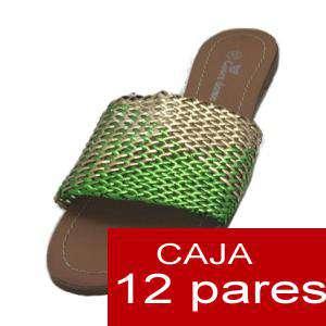 Alta Calidad - Sandalias planas Bicolor Trenzadas - Caja de 12 pares (Últimas Unidades)