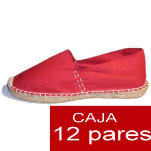 Para Hombres - Alpargatas cerradas HOMBRE color rojo Tallaje 41-46 caja 12 pares