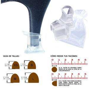 Protectores de Tacón - Protector tacón CUADRADO M (0.9 cms - 1.2 cms) - Cubretacon (1 par)