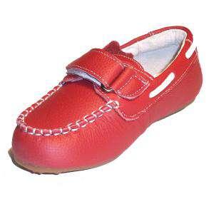 Rojo - NAUT Náutico Piel Niño Rojo Talla 30