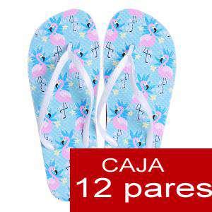 Sandalias y Chanclas - Chanclas MUJERES - Caja 12 pares - Flamencos (Últimas Unidades)