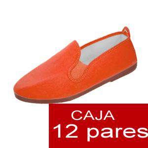 Zapatillas de Tela (Kung fu) - Manoletinas Zapatillas de TELA NARANJA Lote de 12 pares (Últimas Unidades)