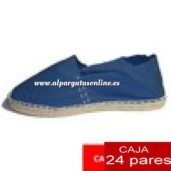 Imagen Hombre Cerradas Alpargatas cerradas HOMBRE color marino Tallaje 40-46 -caja 24 pares (TIENDA)