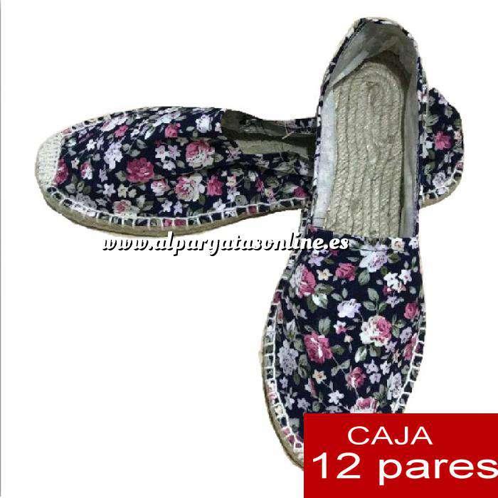 Imagen Mujer Estampadas Alpargatas estampadas FLORES ESPECIALES 2 Caja 12 pares - OFERTA ULTIMAS CAJAS (Últimas Unidades)