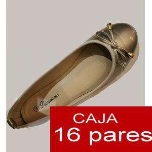 Alta Calidad - Manoletinas DORADAS primavera - Caja 16 pares (Últimas Unidades)