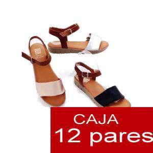 Alta Calidad - Sandalias atadas al tobillo - caja 12 pares (Últimas Unidades)