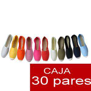 Mixtas (HyM) Cerradas - Alpargatas cerradas HOMBRE Y MUJER (OFERTA ESPECIAL LOTE 15) surtidas - caja 30 pares (Últimas Unidades)