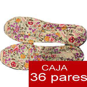 Mujer Estampadas - Alpargata estampada FLORES Caja 36 pares